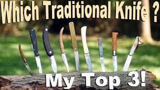 Some of the best budget Traditional Pocket Knives from around the world.  Which are My top 3?