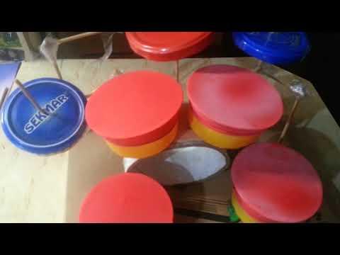 Моя мини барабанная установка , сделано своими руками )