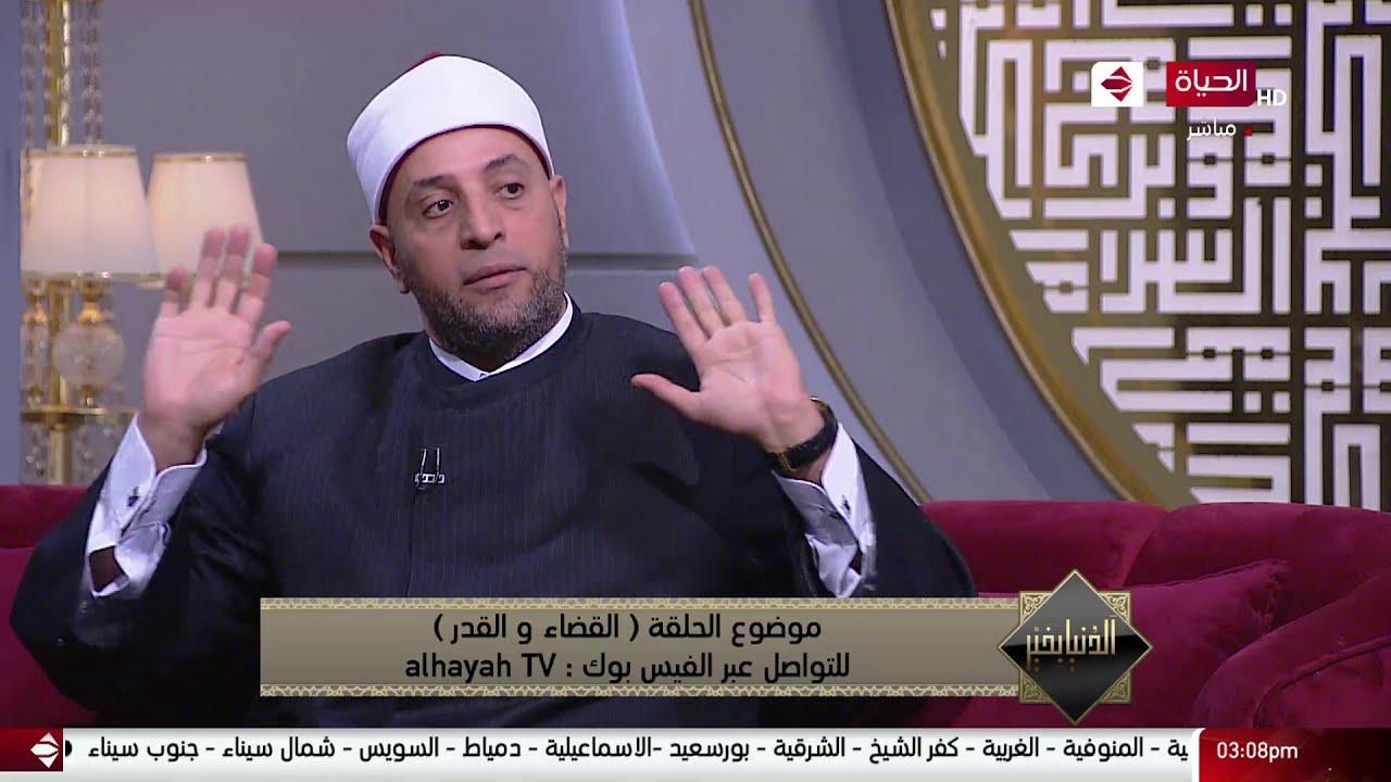 الدنيا بخير - الشيخ رمضان عبد الرازق يشرح الفرق بين القضاء والقدر