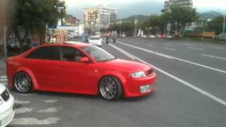 audi b6 a4 2 7 twin turbo featuring fast intentions custom exhaust video 1