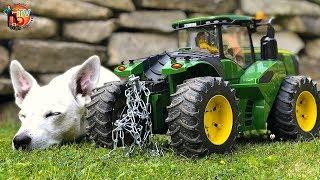 BEST of TRAKTOR RC John DEERE Transport DRIVE! Tractor for kids!