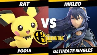 The April Minor Pools - rat (Pichu) Vs. MKLeo (Lucina) Smash Ultimate - SSBU