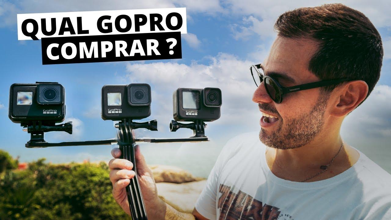 COMPARATIVO entre as GOPRO HERO 7 vs 8 vs 9