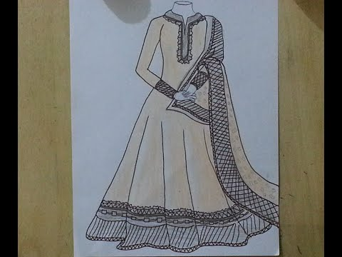 how-to-draw-beautiful-and-stylish-designer-frock-design