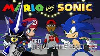 Infinite Reacts to Mario Vs Sonic - Cartoon Beatbox Battles