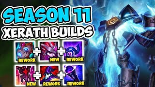 TRYING EVERY XERATH BUILD POSSIBLE FOR SEASON 11! (THE XERATH MOVIE) - League of Legends