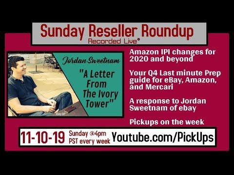 Reseller Roundup 11-10-19 LAST MINUTE Q4 Prep for Amazon, Ebay, Mercari | Q&A | Pickups