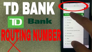 ✅  TD Bank ABA Routing Number - Where Is It? 🔴