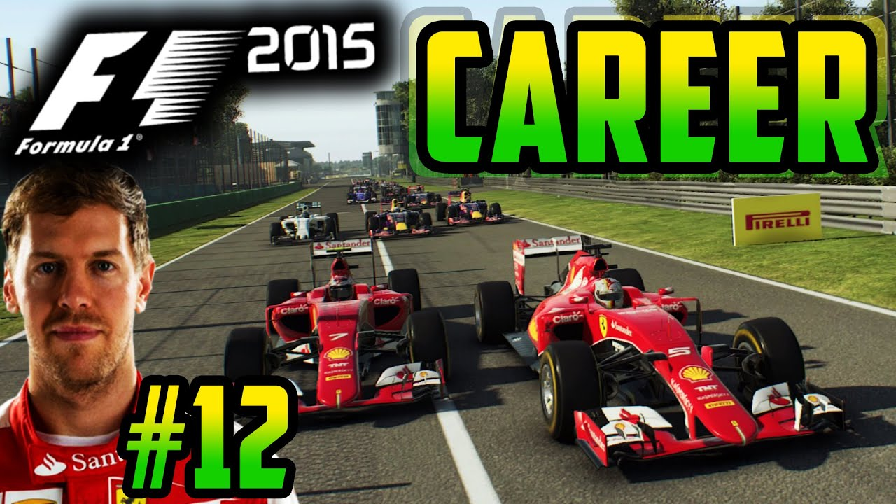 F1 2015 VETTEL CAREER MODE PART 12: ITALY, MONZA