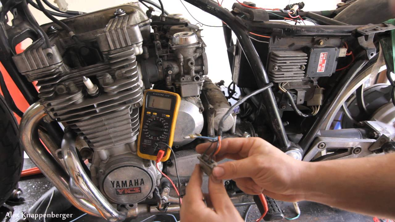How To Test Ignition Pickup Coils On Cdi Electronic W Wiring Schematic 1980 Yamaha Sr250 Multi Meter Youtube