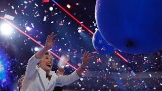 Hillary Clinton celebrates making history