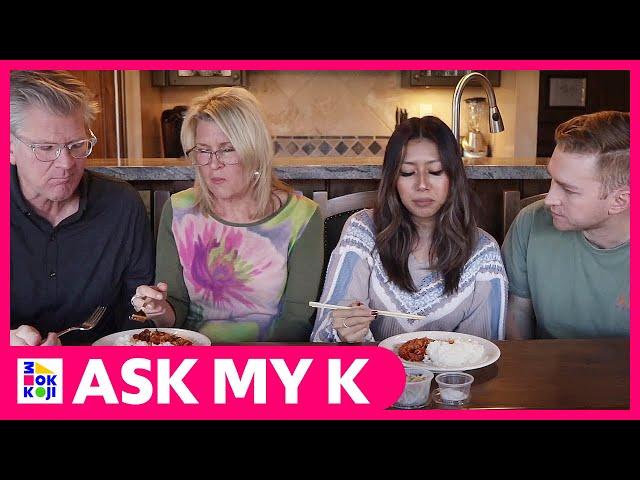 Ask My K : Hi Chad - American Parents Trying Korean Intestine + Sausage! + Korean Banchans