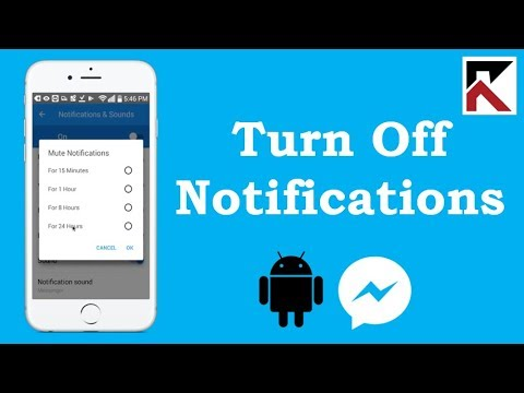 How To Turn Off Facebook Messenger Notifications 2018 Android