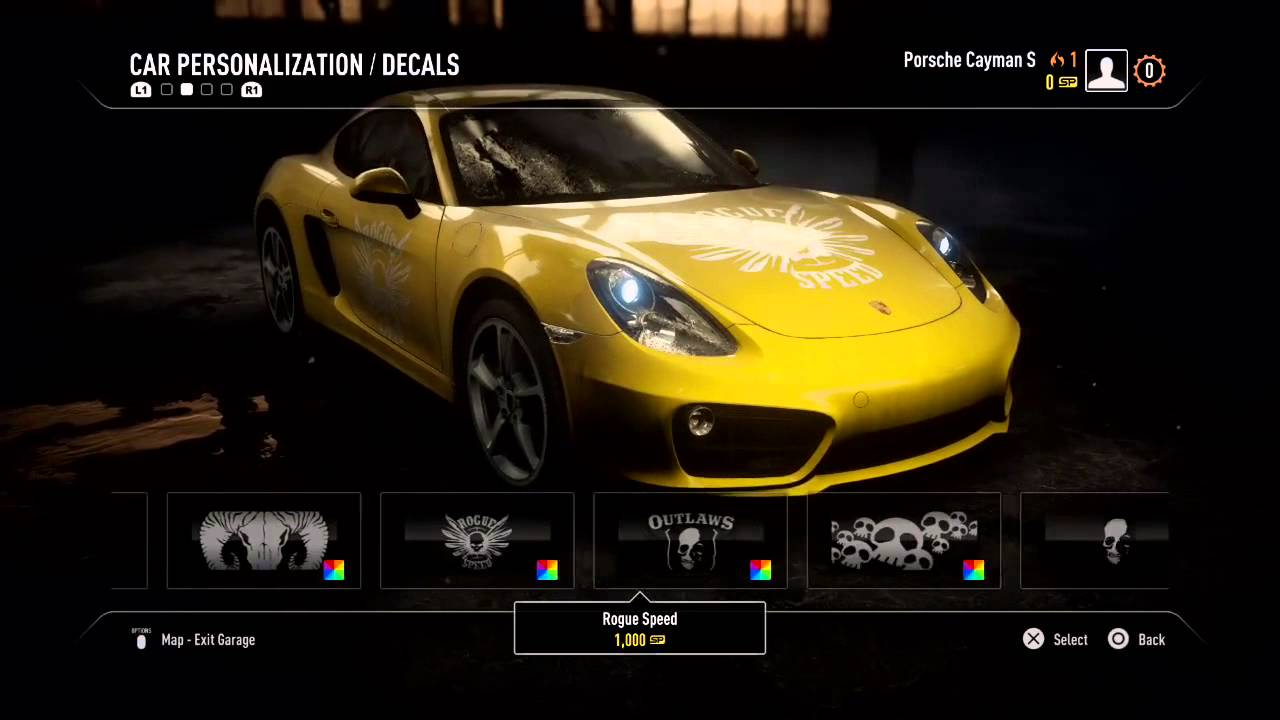 early car customization need for speed rivals ps4 youtube. Black Bedroom Furniture Sets. Home Design Ideas