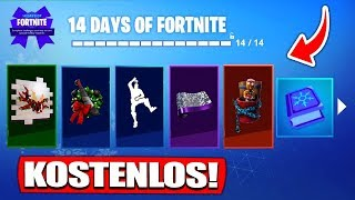 All 14 FREE GIFTS! | 14 Days Christmas Event! - Fortnite Battle Royale German