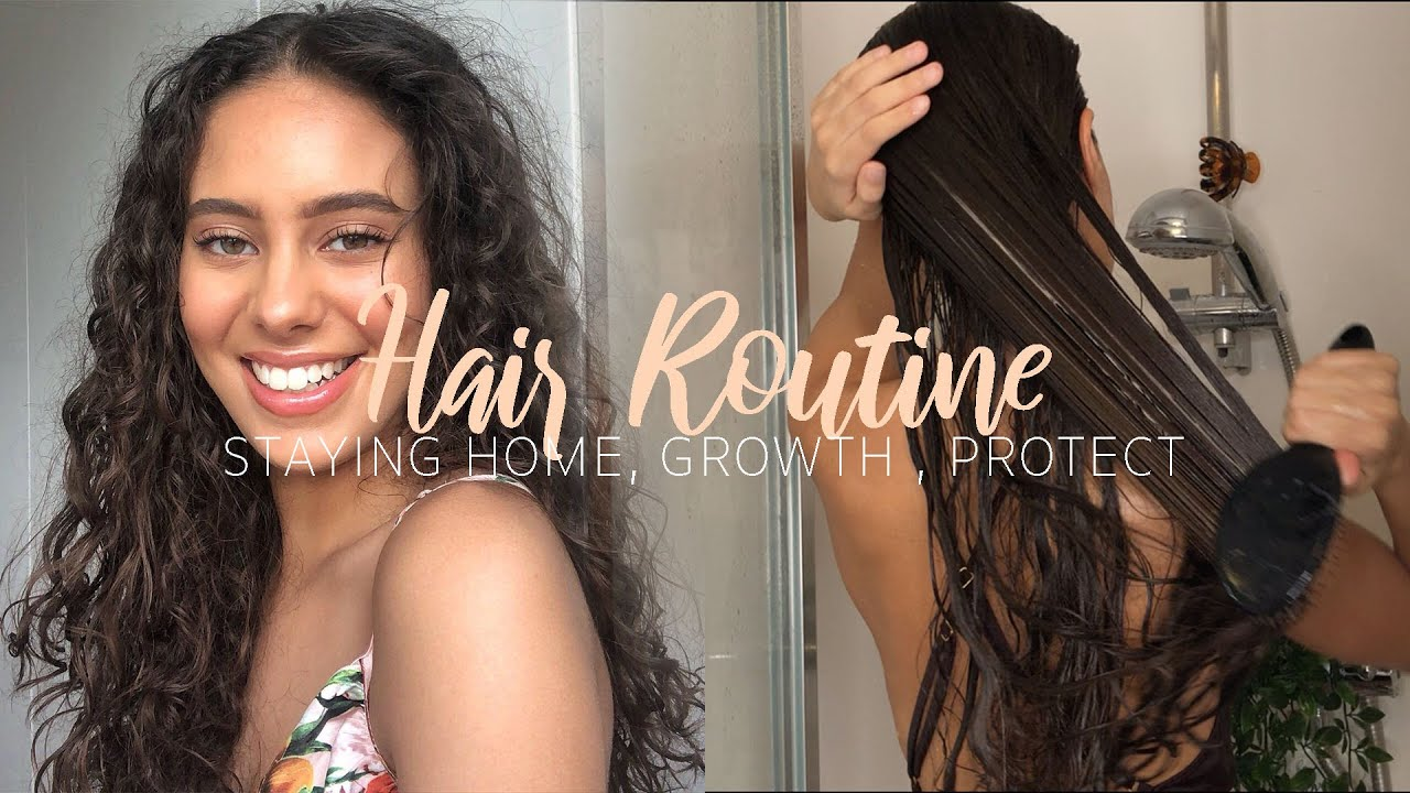 HAIR ROUTINE - STAYING HOME (WAVY/CURLY) | Jessicvpimentel