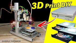 3D Printer DIY with FLOPPY DRIVER and old DVDROM