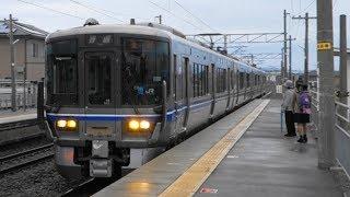 【村の鍛冶屋】JR北陸線 森田駅に普通列車到着