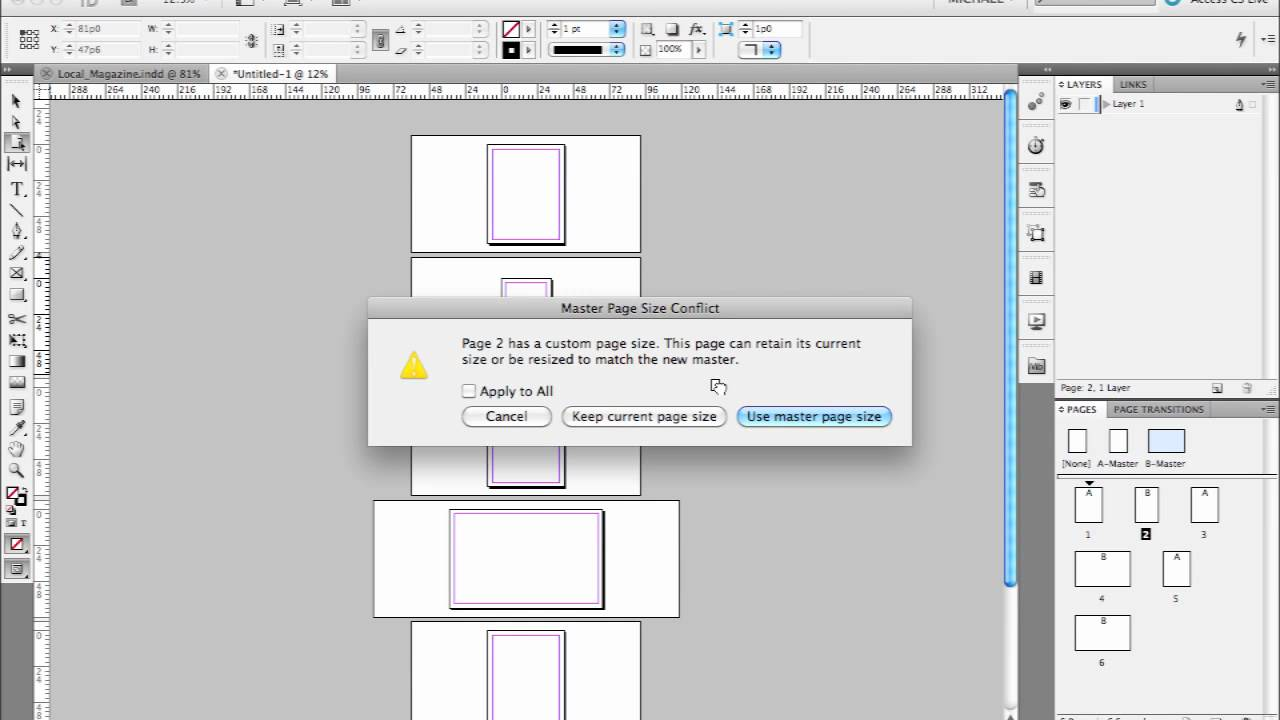 Printing Booklets (Mac) - InDesign