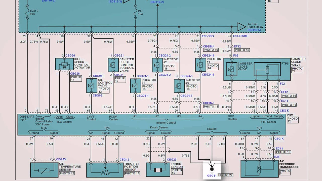 Hyundai Wiring Diagrams 2007 To 2010 Youtube Electric Car