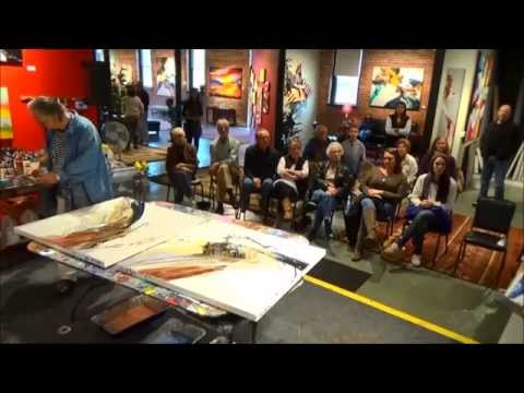 Jonas Gerard Live Painting in Asheville