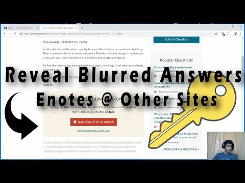 Life Hack: Reveal Blurred Answers [Math, Physics, Science, English]