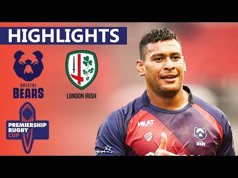 Bristol V London Irish - HIGHLIGHTS | Late Double Try Decides Match | Premiership Cup 2019/20