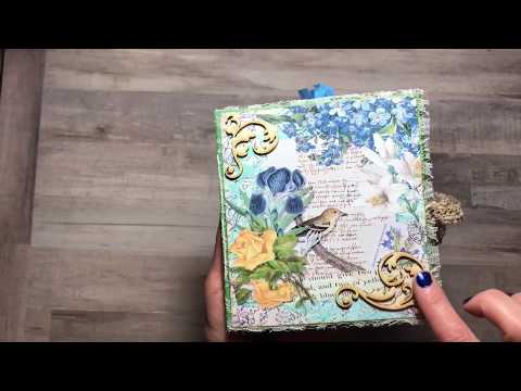 Calico Collage Design Team Project   Senere Flora Paper Bag Journal