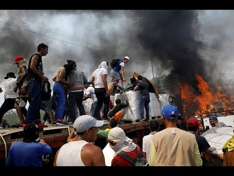 Violence at the Venezuelan border, humanitarian aid blocked