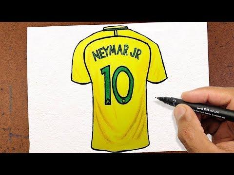 COMO DESENHAR CAMISA 10 Neymar Jr, Seleção Brasileira