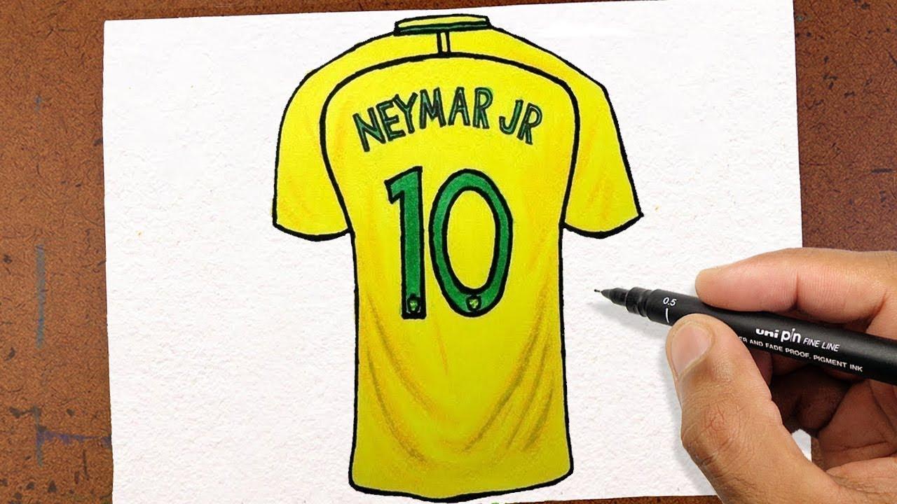 COMO DESENHAR CAMISA 10 Neymar Jr 74319bb1ea014