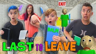 Last to Leave BALDI'S Schoolhouse! FUNhouse Family (In Real Life Escape Game)