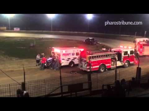 A four-wheeler driver injured in a crash is airlifted from the U.S. 24 Speedway outside Lake Cicott
