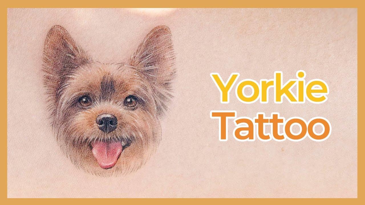 강아지 타투 🎨 Yorkie Dog Tattoo Time lapse
