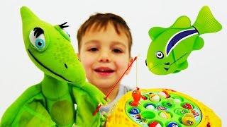 Игры для мальчиков: РЫБАЛКА и игры ДИНОЗАВРЫ. Поезд динозавров видео про динозавров(Любишь смотреть мультфильмы про динозавров Поезд Динозавров и играть в игры для мальчиков с друзьями? Дава..., 2016-07-07T12:01:20.000Z)