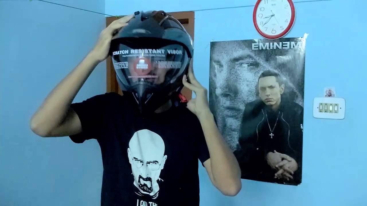 Studds Shifter Helmet Review Youtube: Studds Motocross Plain Visor Helmet Review