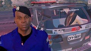GTA 5 ROLEPLAY POLICIAL - TENTOU PINOTE NA ROTA, SE DEU MAL !