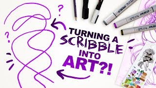 IS IT POSSIBLE?! | Turning a Scribble into an Illustration | Scribble Challenge