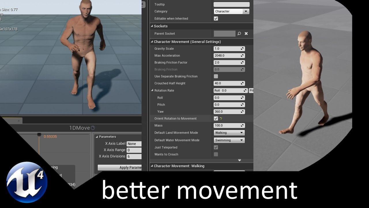 Unreal Engine 4 - Pawn Rotation to Movement - Part 13 - YouTube