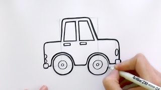 How to Draw a Cartoon Car