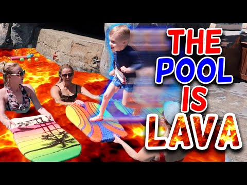 The POOL Is LAVA Challenge With Daily Bumps and Carl And Jinger