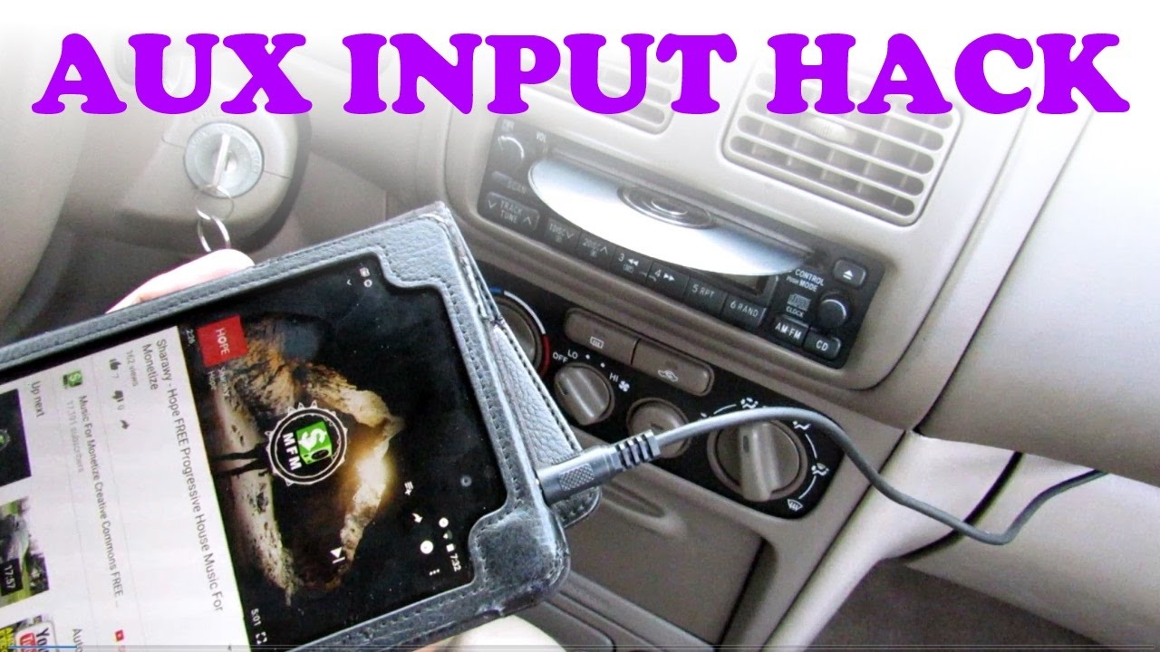 Aux Input CD Stereo Hack - YouTube