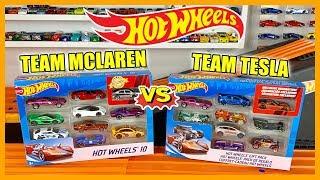 Hot Wheels Team Mclaren vs Team Tesla Race Tournament #HotWheels #PeakTimeRacing #HotWheelsRace
