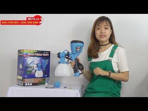 Máy phun sơn đa dụng Haupon TM71 dùng được sơn gốc dầu và sơn gốc nước