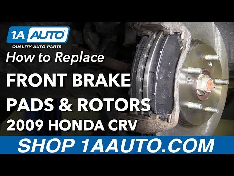 How to Remove Replace Front Brakes 2009 Honda CRV