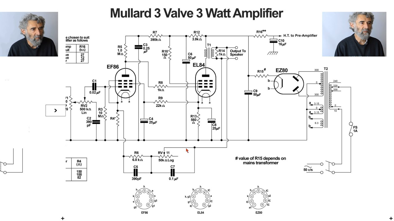 valve amplifier study 007  mullard 3-3 valve amplifier
