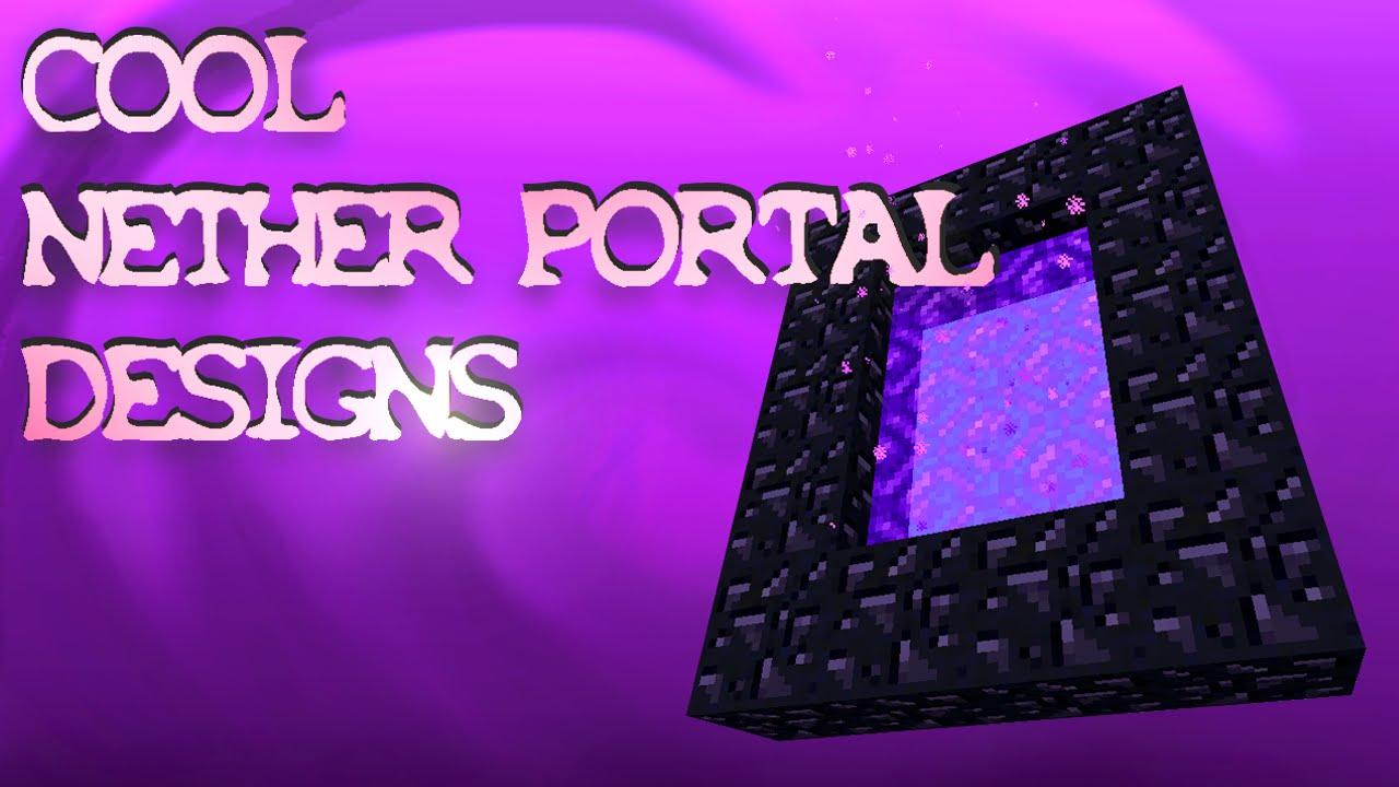 6 Nether Portal Designs Amp Ideas Minecraft YouTube