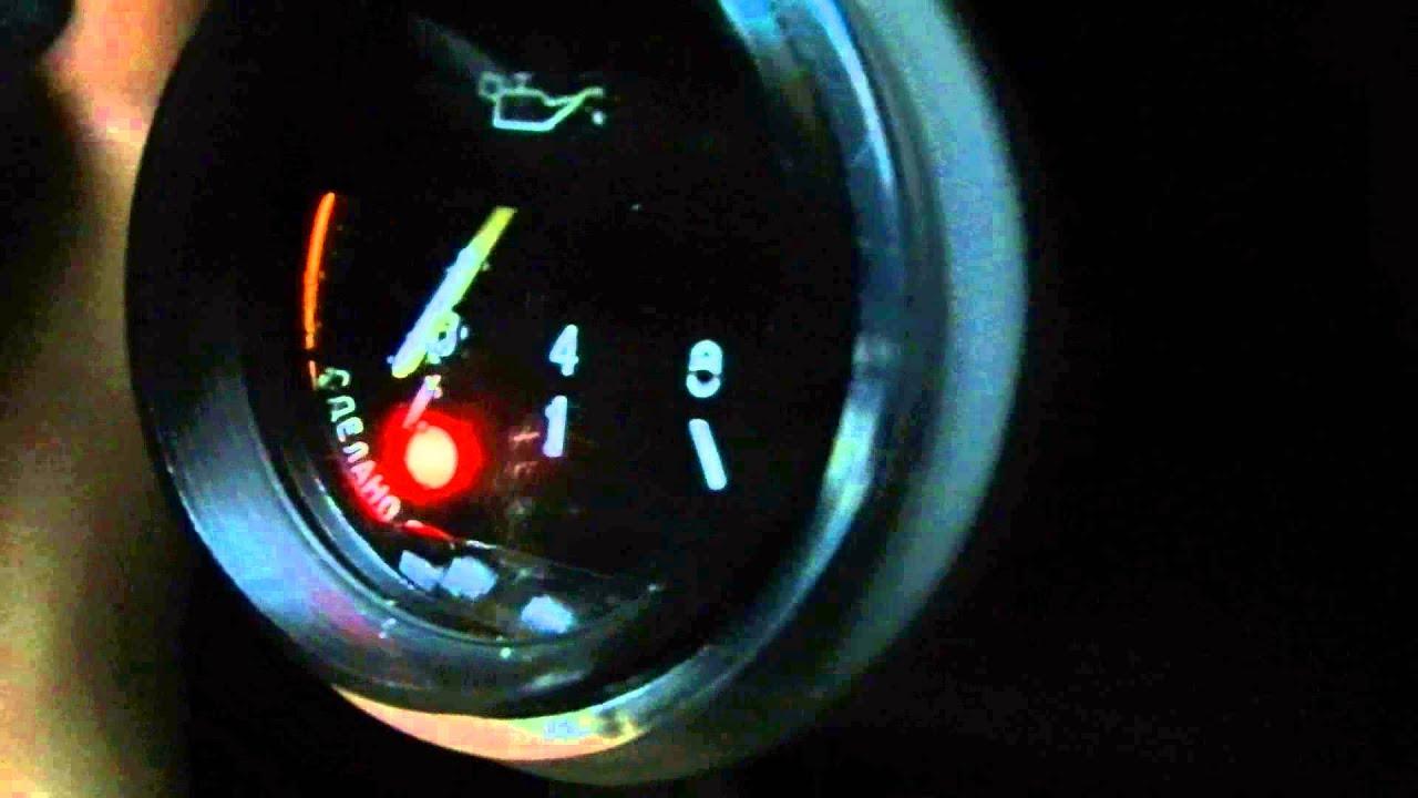 Индикатор давления масла от ВАЗ 2106 на Chevrolet Niva