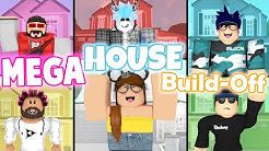MEGA House Build-Off! Panda V.s. 5 FANS!