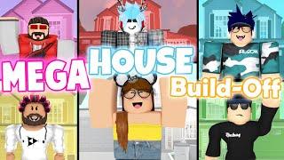 MEGA House Build-Off! Panda V.s. 5 FANS!